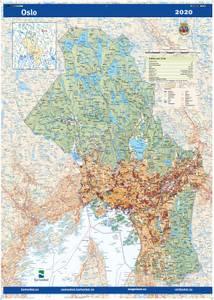 Bilde av Fylkeskart Oslo
